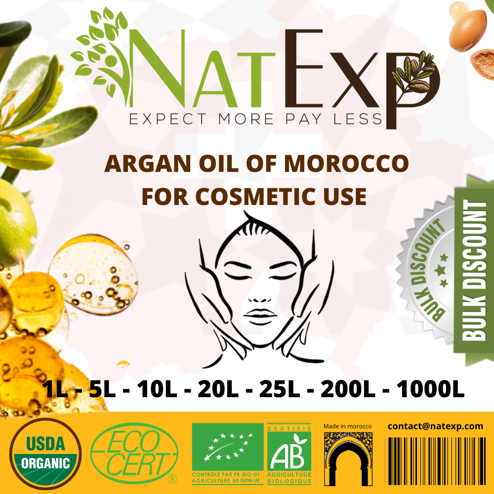 natexp-suisse-argan-oil-1-tone-vrac-bulk argan bio natural pure, argan oil Morocco; Argan oil company; Argan oil bulk; Organic Argan oil; argan oil