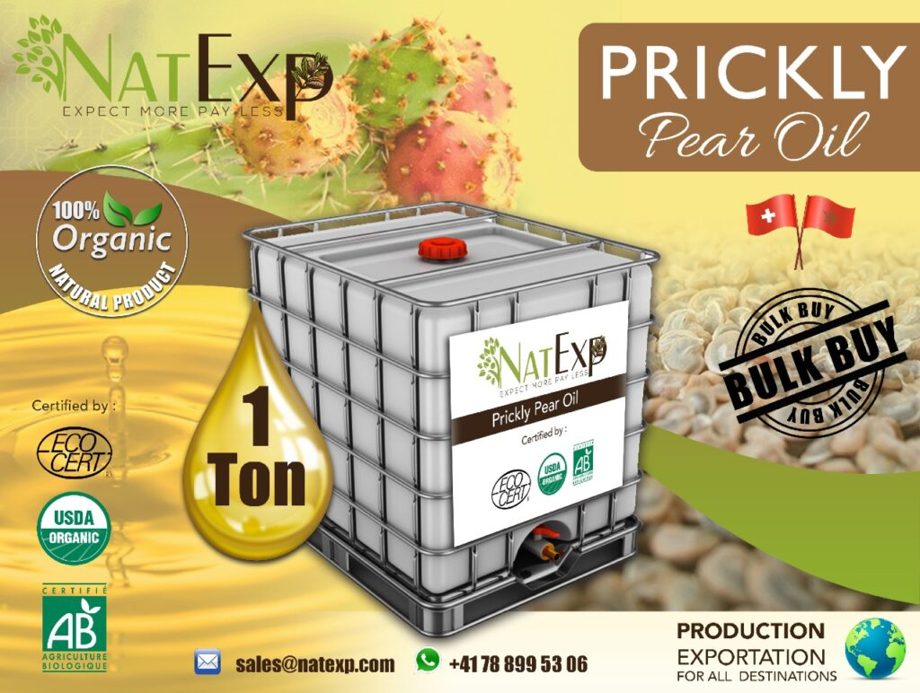 argan oil company morocco natexp-suisse-argan-fique-PRICKLY-PEARSEED OIL-oil-200-25-10-vrac-bulk-morocco PRICKLY PEAR SEED OIL Morocco; Argan oil PRICKLY PEAR SEED OIL company; Argan oil PRICKLY PEAR SEED OIL bulk; Organic Argan oil; argan oil